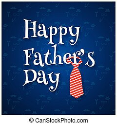 Happy fathers day pattern background Blue background
