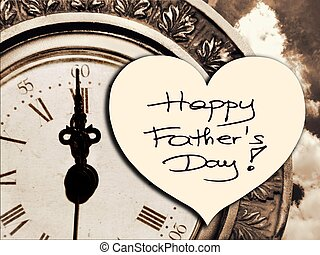 Happy Father's Day picture image illustration with clock ...