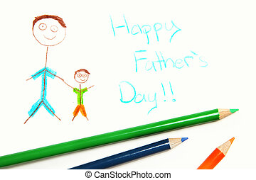 Happy Fathers Day Picture - Kid\'s happy fathers day drawing...