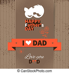 Happy Father's Day vintage retro card. Set of type font and...