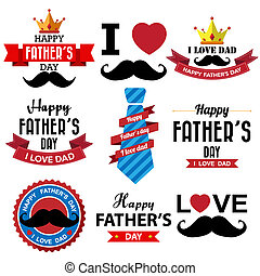 Happy fathers day  vintage retro type font
