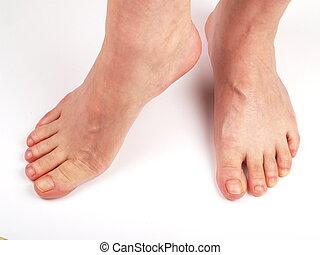 Happy feet - Female Feet on a white bagground. Image taken ...
