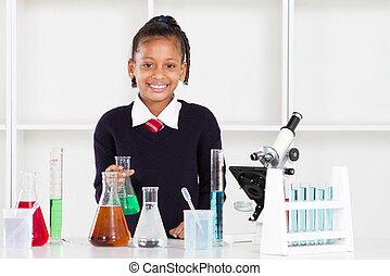 female elementary school pupil