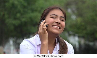 Happy Female Phone Call