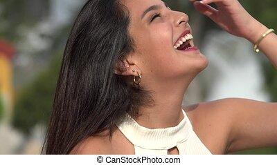 Happy Female Teen