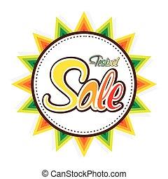 happy festival sale banner design