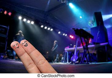 Finger Hug at an open-air live concert