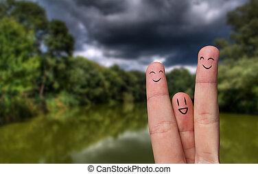 finger hug on Summer Vacation theme