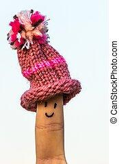 Happy finger with cap