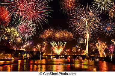 Happy fireworks display