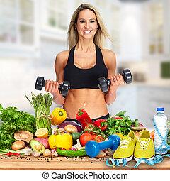 Happy fitness woman.