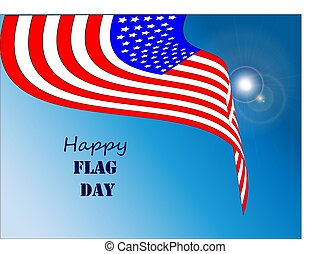 Happy Flag Day 1 - Vector illustration of a background for...
