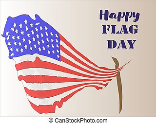 Happy Flag Day 3 - Vector illustration of a background for...