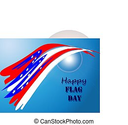 Happy Flag Day 4 - Vector illustration of a background for...