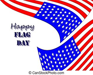 Happy Flag Day 5 - Vector illustration of a background for...