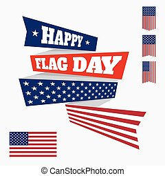 Happy Flag Day badge - USA flag day badge isolated on light...