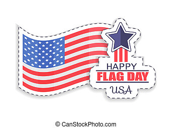 Happy Flag Day Celebration Vector Illustration - Happy flag...