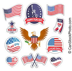 Happy Flag Day National American Holiday Banner - Happy flag...