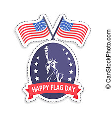 Happy Flag Day Old Glory, Vector Illustration - Happy flag...