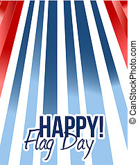 happy flag day us background illustration design