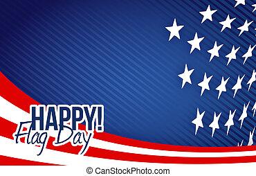 happy flag day us flag background illustration