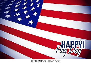 happy flag day us flag background illustration design graphic