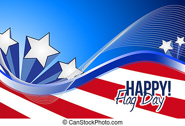 happy flag day us patriotic background