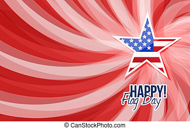 happy flag day us star background illustration