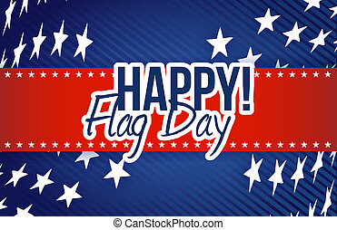 happy flag day us stars background illustration