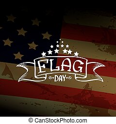 Happy flag day vector background.