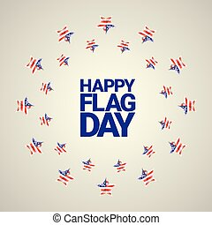 Happy flag day vector background. flag day USA banner. Happy...