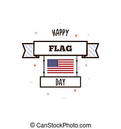 Happy Flag Day. Vector illustration.