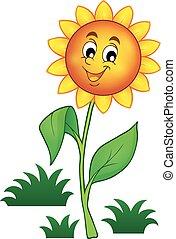 Happy flower theme image 1