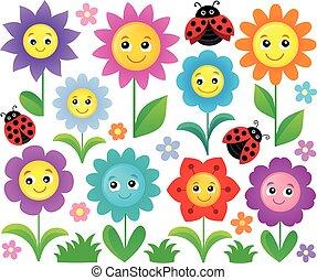 Happy flowers topic