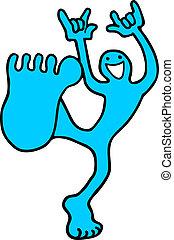 Happy foot - Creative design of happy foot