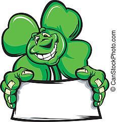 Happy Four Leaf Clover Shamrock Hol