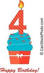 Happy Fourth Birthday Anniversary card