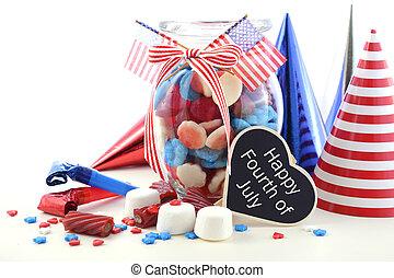 Happy Fourth of July Candy Jar. - Happy Fourth of July...