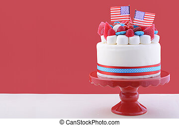 Happy Fourth of July celebration cake. - Happy Fourth of...