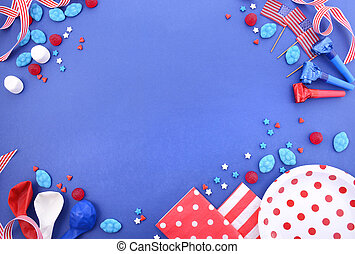 Happy Fourth of July Party Background.