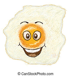 happy fried egg