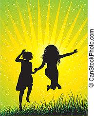 friend - Happy friend Girls jumping