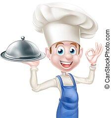 Happy Friendly Cartoon Chef