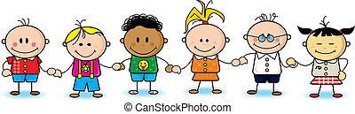 Happy friends - A group of little childrens