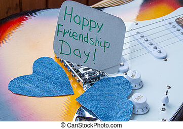 Happy Friendship day 4 Aug. Heart of denim on the guitar