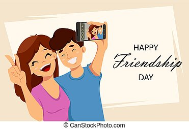Happy Friendship day greeting card