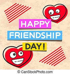 Happy Friendship Day Hand Drawn Vector Lettering Design. Perfect For Advertising, Poster