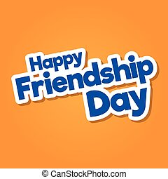 Happy Friendship Day hand drawn vector lettering design