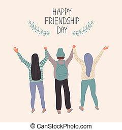 Happy Friendship Day Vector illustration