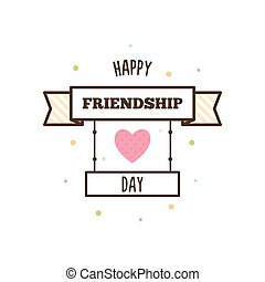 Happy Friendship Day. Vector illustration.